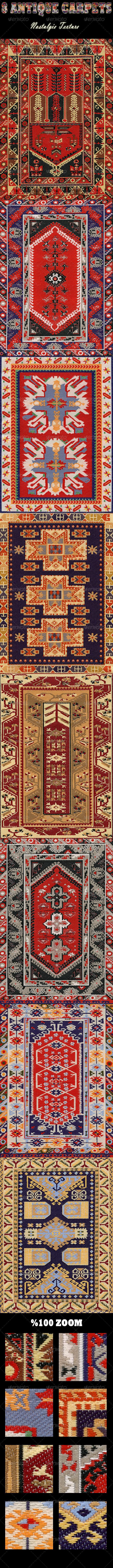 8 Antique Carpets - Nostalgia Texture - Fabric Textures