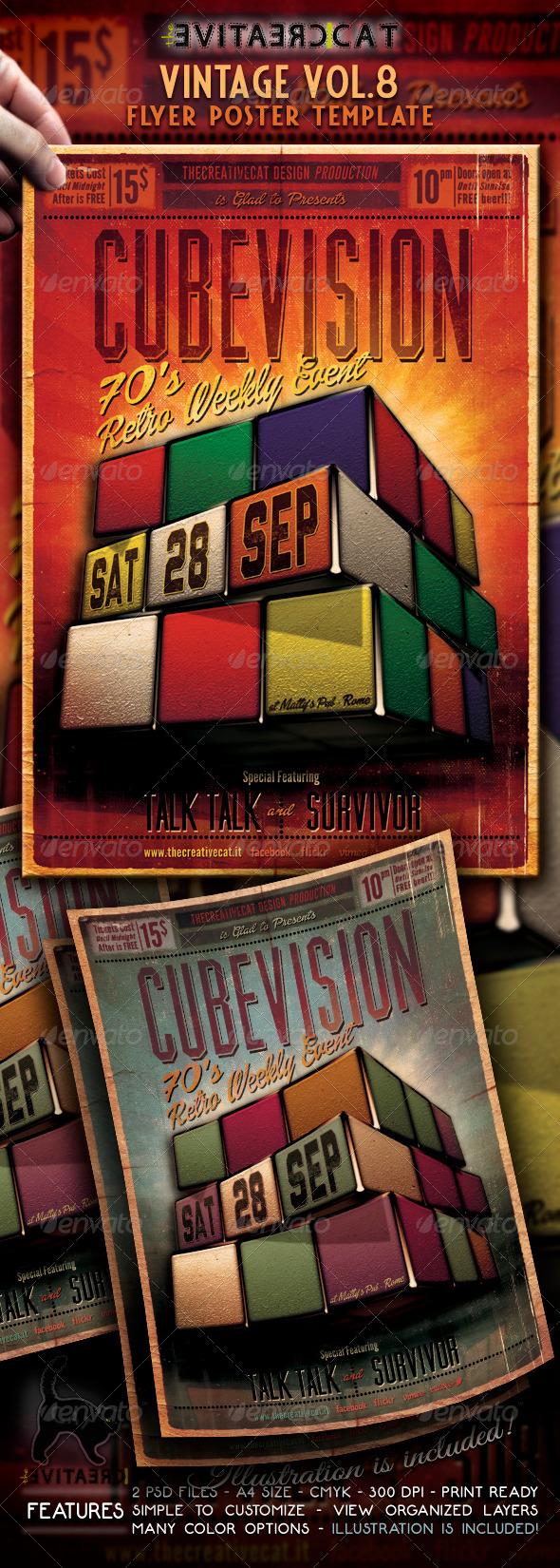 Vintage Flyer/Poster Vol. 8 - Events Flyers