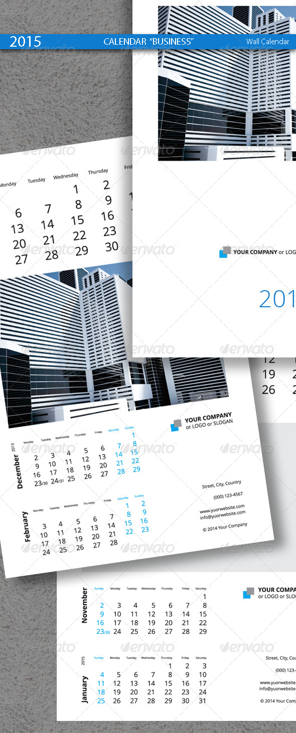 Business calendar template 2015 2014 by artremizov graphicriver business calendar template 2015 2014 calendars stationery accmission Images