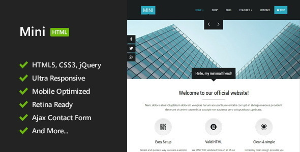 Mini – Unique HTML5 Template
