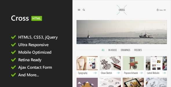 Cross - Minimal HTML5 Template - Creative Site Templates