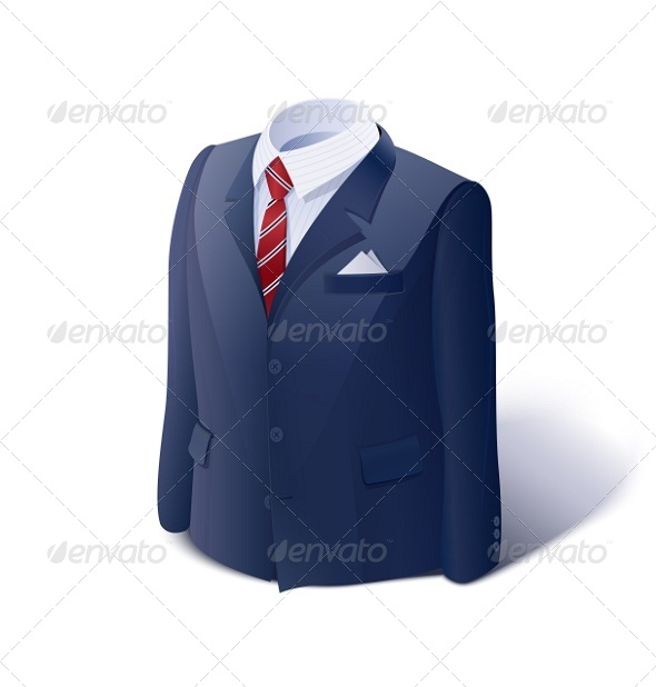 Jacket and Shirt. Business Suit. - Man-made Objects Objects