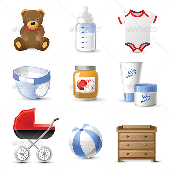 Baby Icons - Objects Vectors