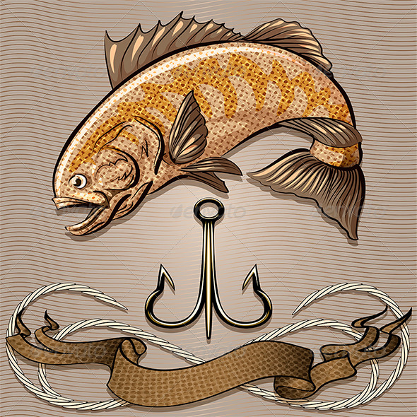 Fish and Treble Hook - Animals Characters