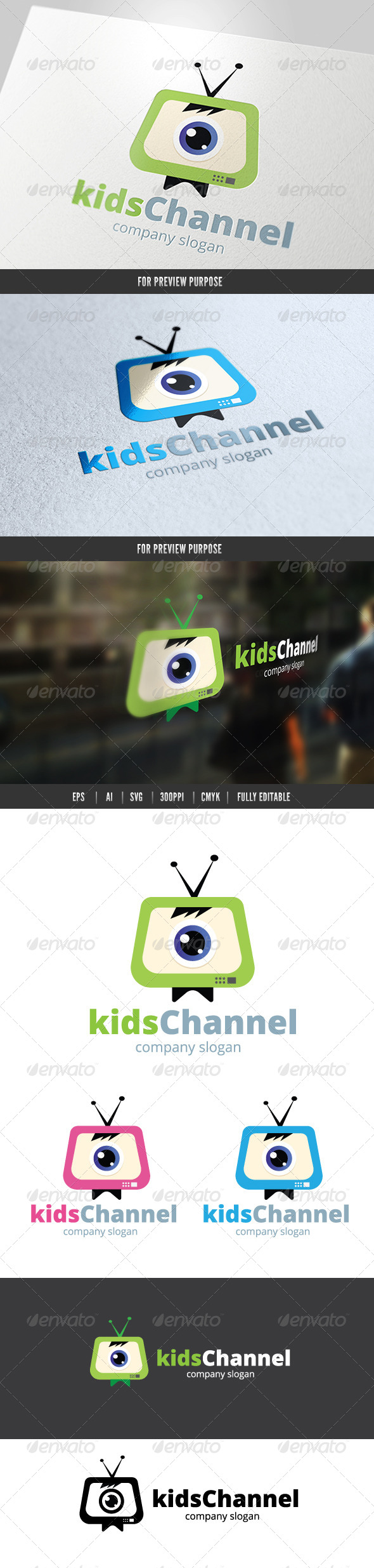 Kids Channel Logo - Objects Logo Templates