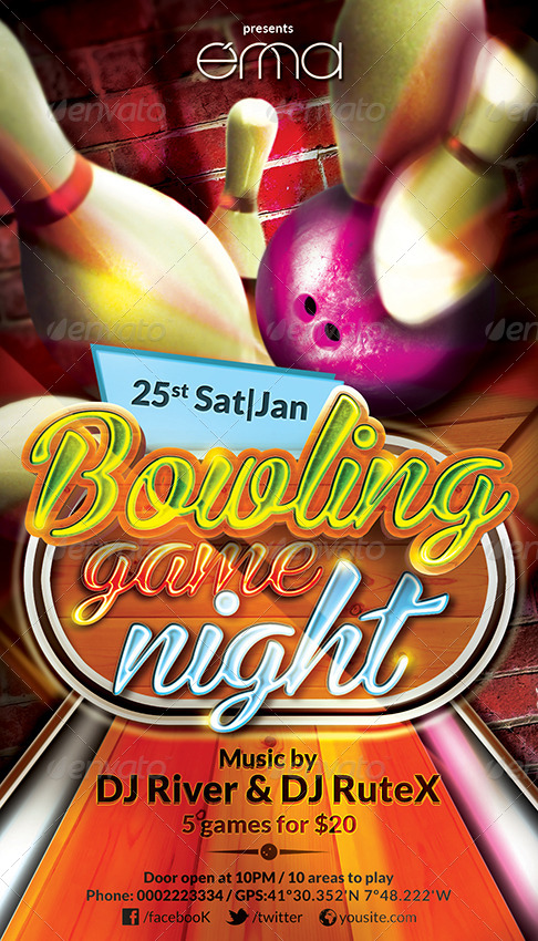 Bowling Game Night - Flyer By Ennadesign | Graphicriver