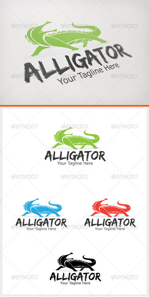 Alligator - Animals Logo Templates