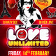 Love Unlimited Valentines Day Flyer - GraphicRiver Item for Sale