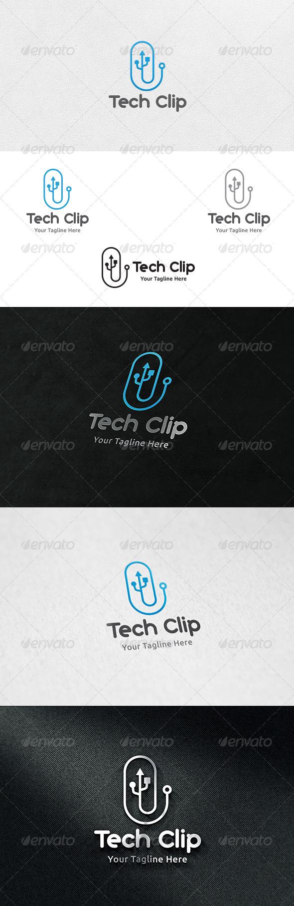 Tech Clip - Logo Template - Symbols Logo Templates