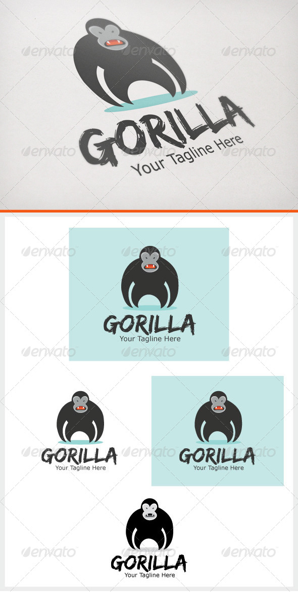Gorilla - Animals Logo Templates
