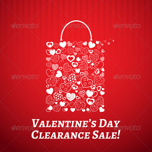 Shopping Bag for Valentines Day - Valentines Seasons/Holidays