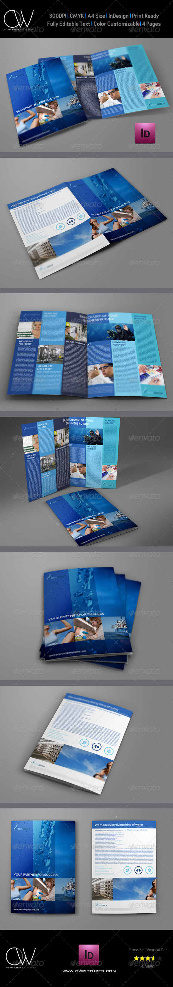 Company Brochure Bi-Fold Template Vol. 16 - Corporate Brochures