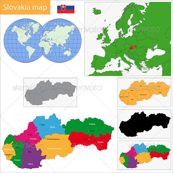 Slovakia Map - Travel Conceptual