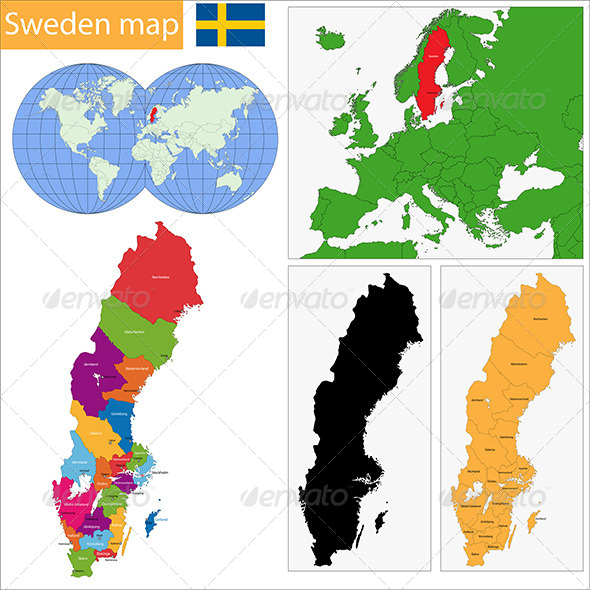 Sweden Map - Travel Conceptual