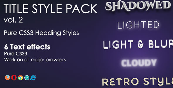 Heading Style Pack - Vol. 2 - CodeCanyon Item for Sale