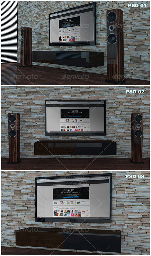 Living Room Tv Mock-Up - TV Displays