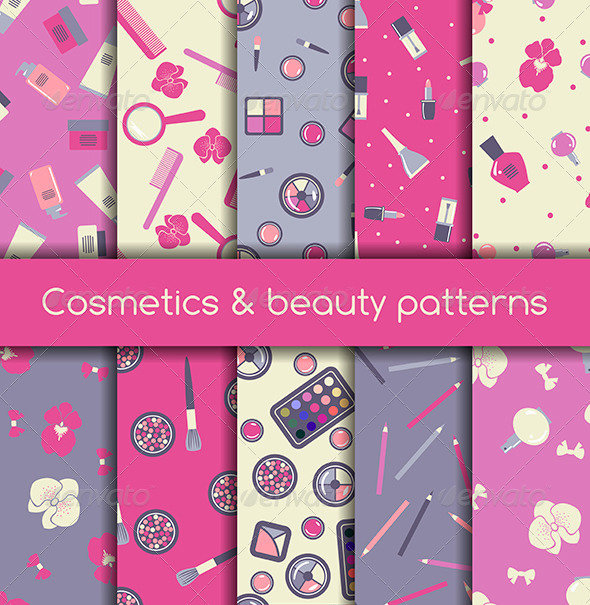 Cosmetics Seamless Pattern - Patterns Decorative
