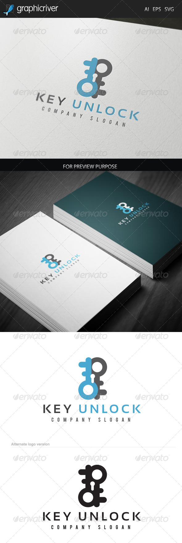 Key Unlock Logo - Logo Templates