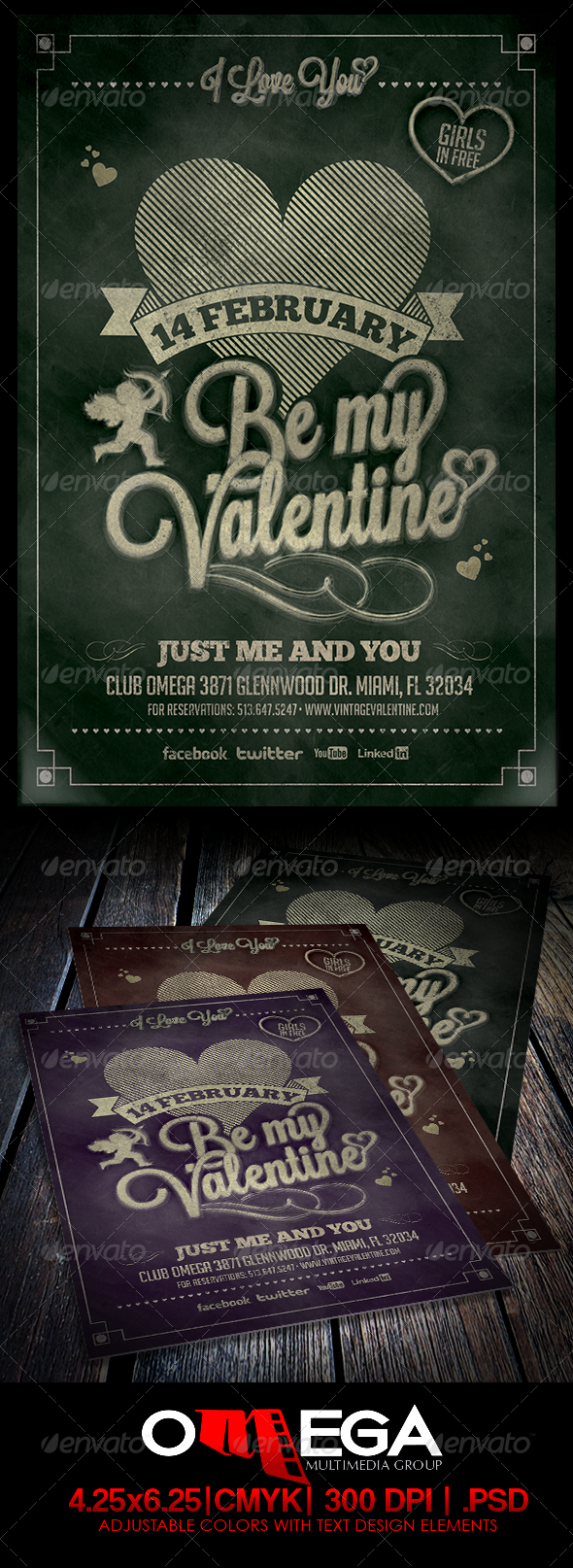 Vintage Valentine Vol. II - Events Flyers