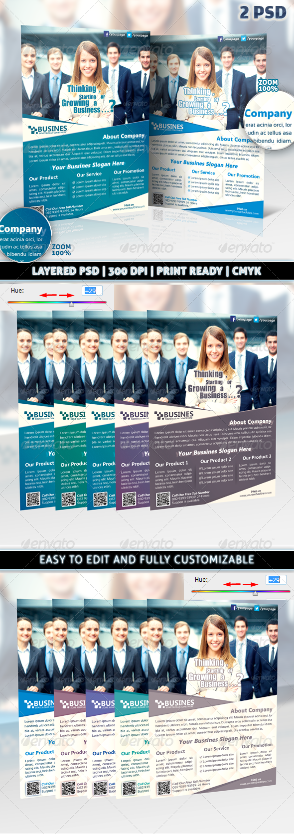 Modern & Clean Corporate Business Flyer Template - Corporate Flyers
