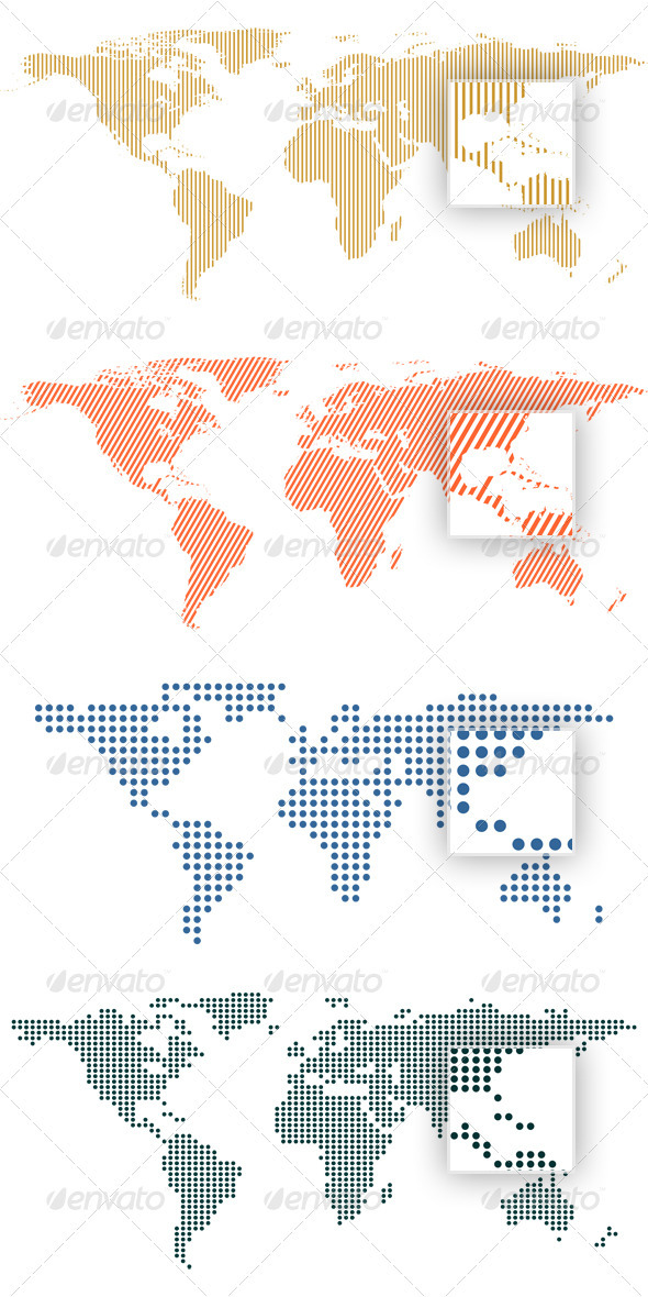 World map by dots and lines by erengoksel graphicriver world map by dots and lines communications technology gumiabroncs Gallery
