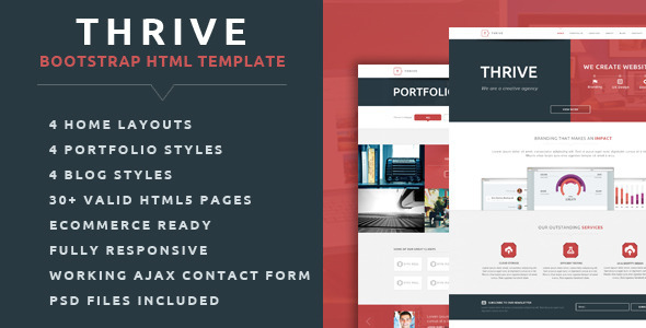 Thrive - Multipurpose Creative HTML Template - Creative Site Templates