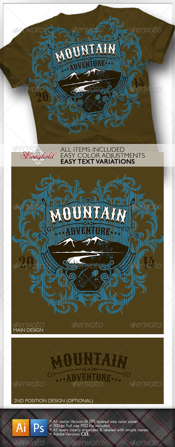 Mountain Adventure T-shirt Event Template - T-Shirts