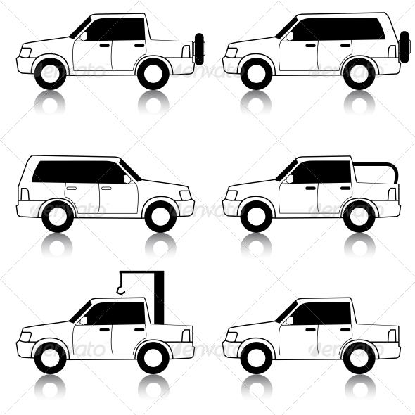 Transportation Symbols - Web Elements Vectors