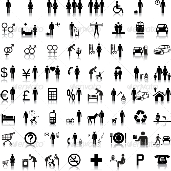 Website and Internet Icons People - Web Elements Vectors