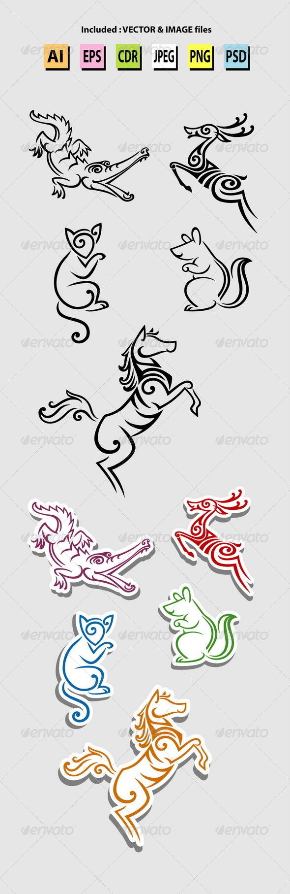 Animal Symbols - Animals Characters