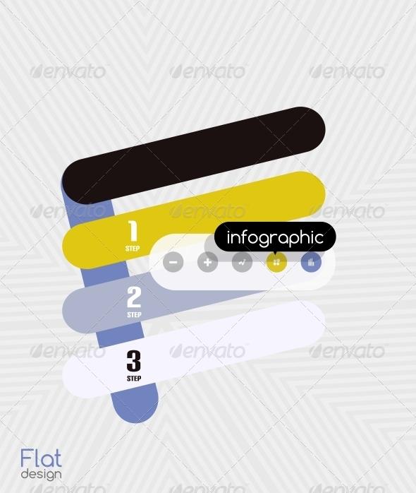 Geometric Infographic Stripes Modern Flat Design - Web Technology