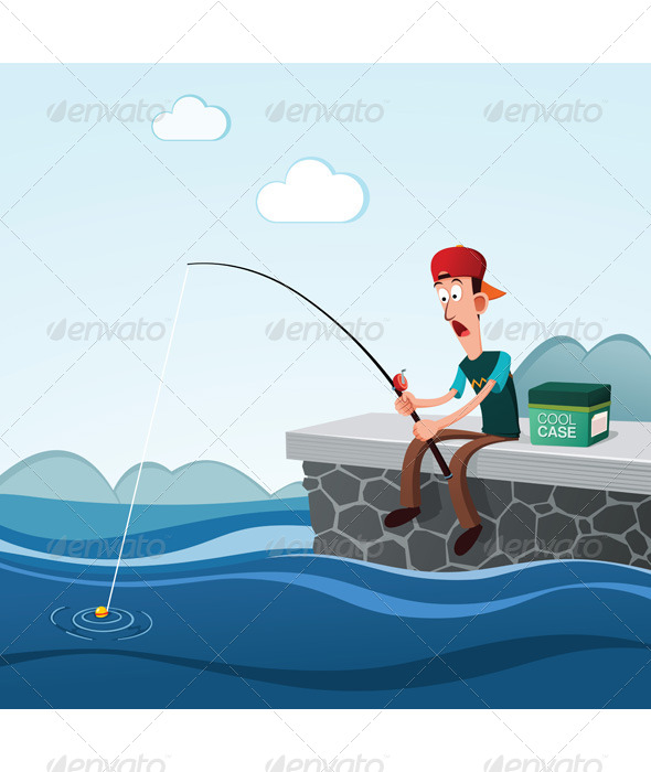 Fishing in the Dock - Sports/Activity Conceptual