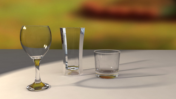 Glass Set - 3DOcean Item for Sale