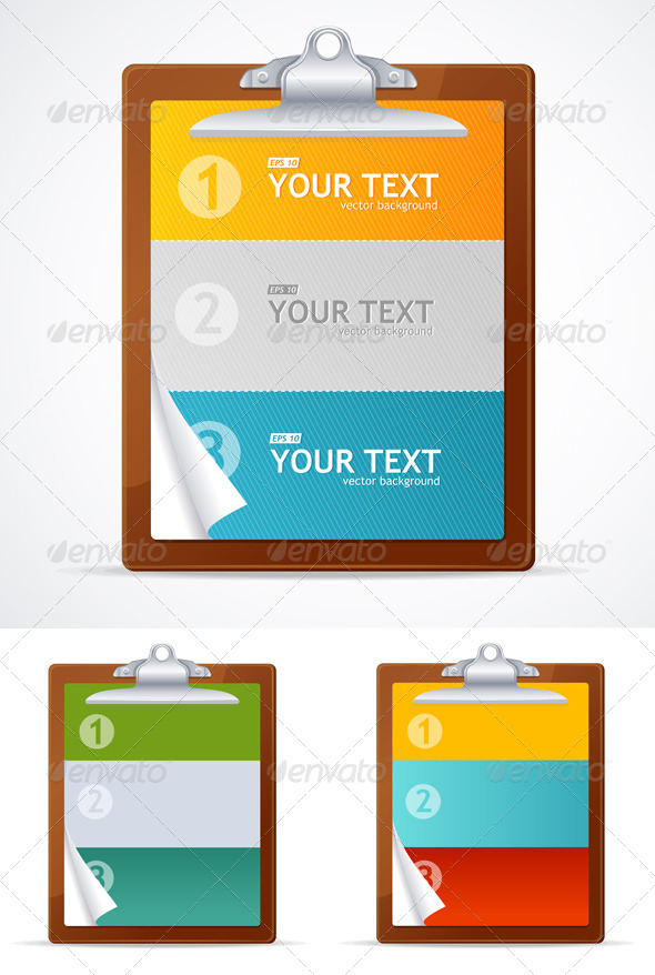 Blank Clipboard Set - Business Conceptual