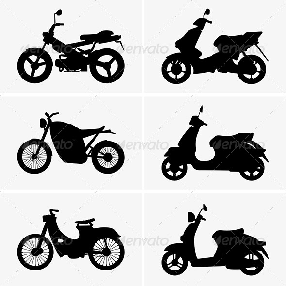 Motorbikes and Scooters - Man-made Objects Objects