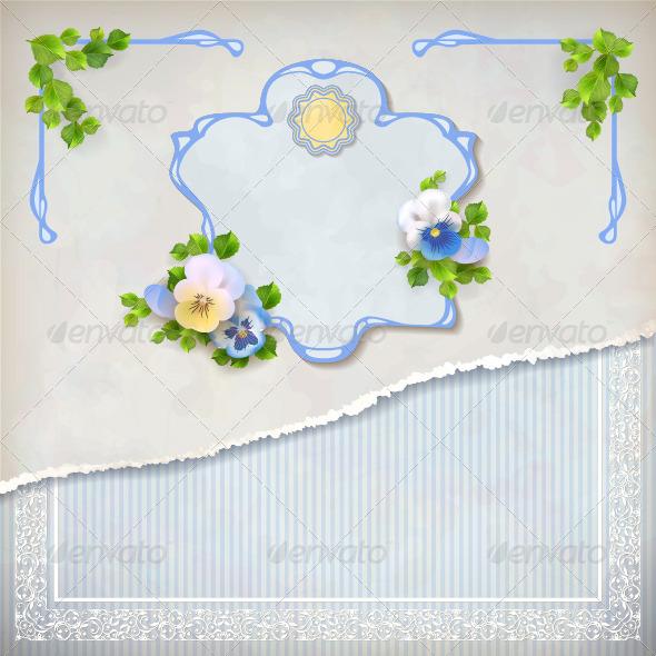 Shabby Chic Vintage Wedding Floral Invitation - Weddings Seasons/Holidays