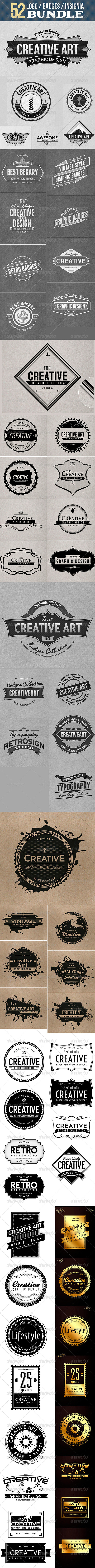 Logo / Badge / Insignia Bundle  - Badges & Stickers Web Elements