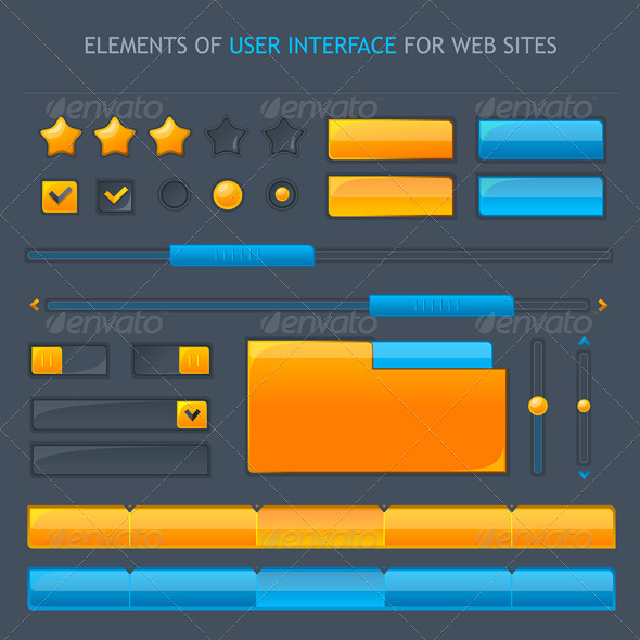 Set of Vector UI - Web Technology