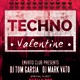 Techno Valentine's Party Flyer - GraphicRiver Item for Sale
