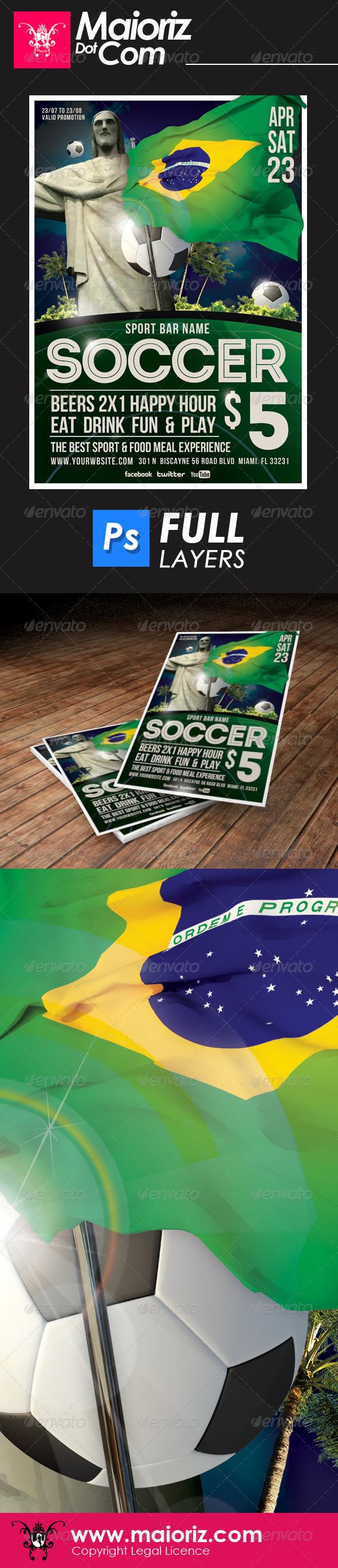 Sport Soccer Bar Flyer - Sports Events