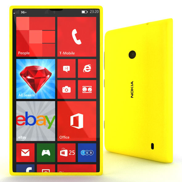 Nokia Lumia 520 - 3DOcean Item for Sale