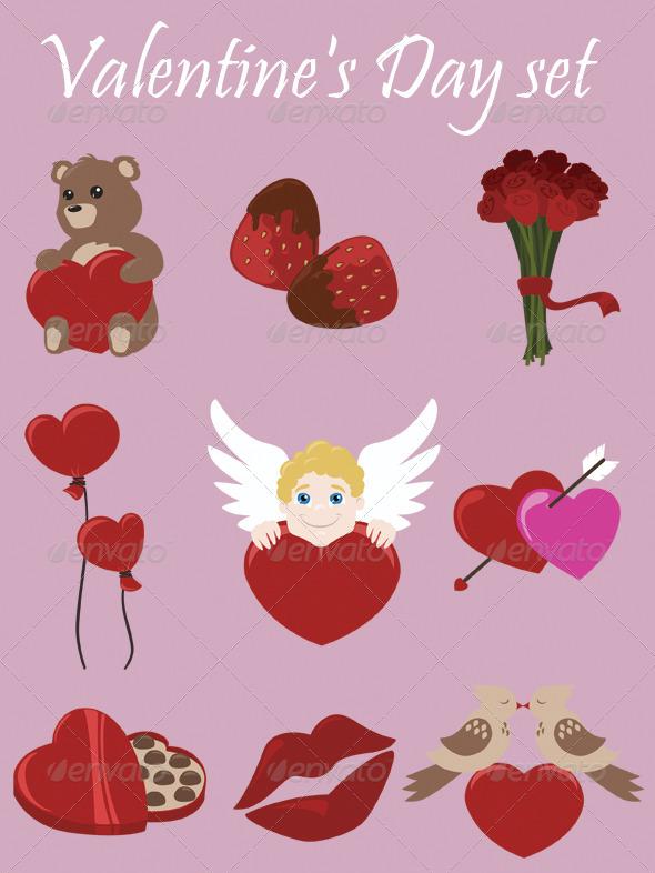 Valentine's Day Set - Valentines Seasons/Holidays