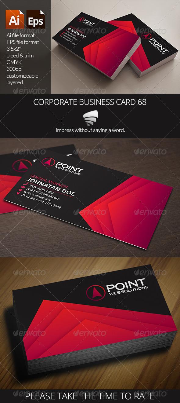 Corporate Business Card 68 - Corporate Business Cards