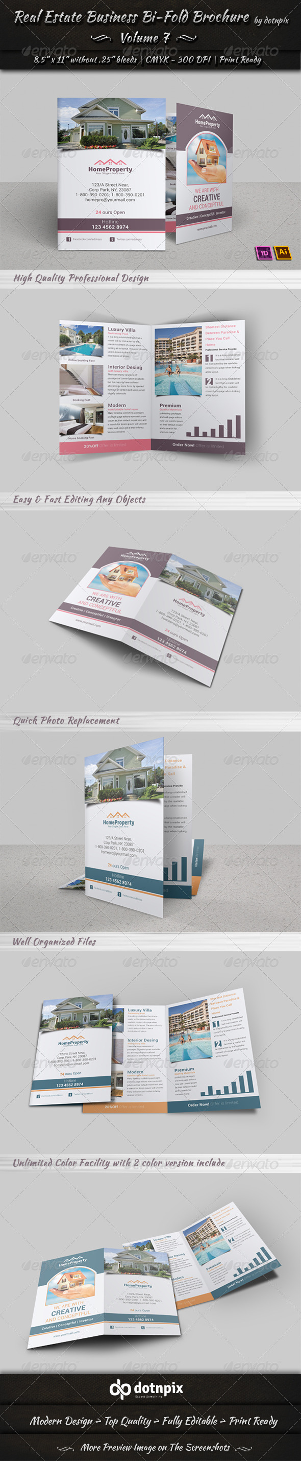 Real Estate Business  Bi-Fold Brochure | Volume 7 - Corporate Brochures