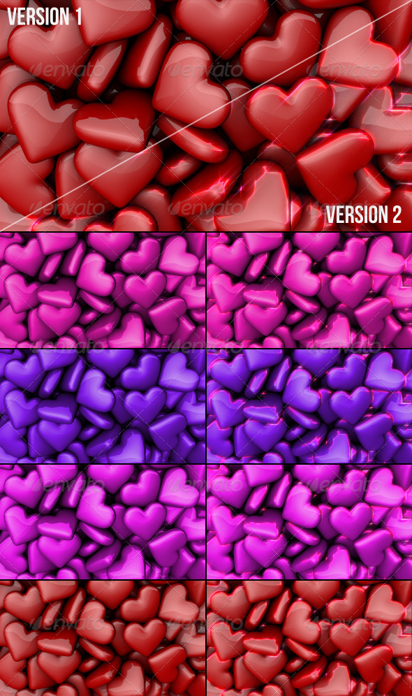 Hearts Backgrounds - 3D Backgrounds
