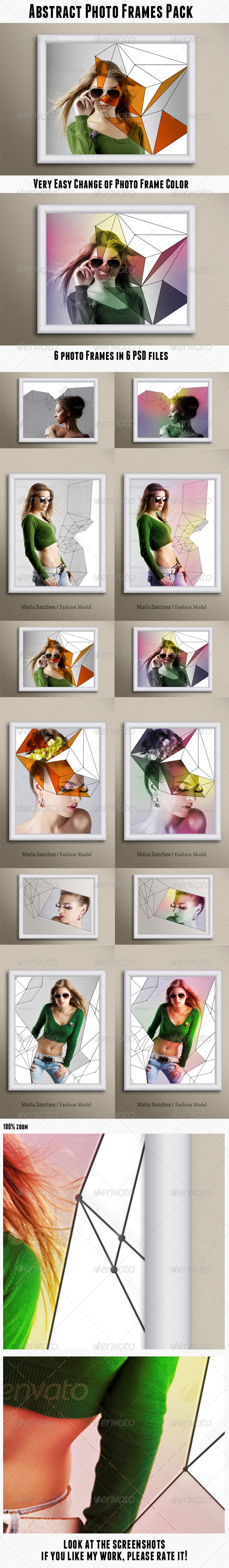Abstract Photo Frames Pack - Artistic Photo Templates