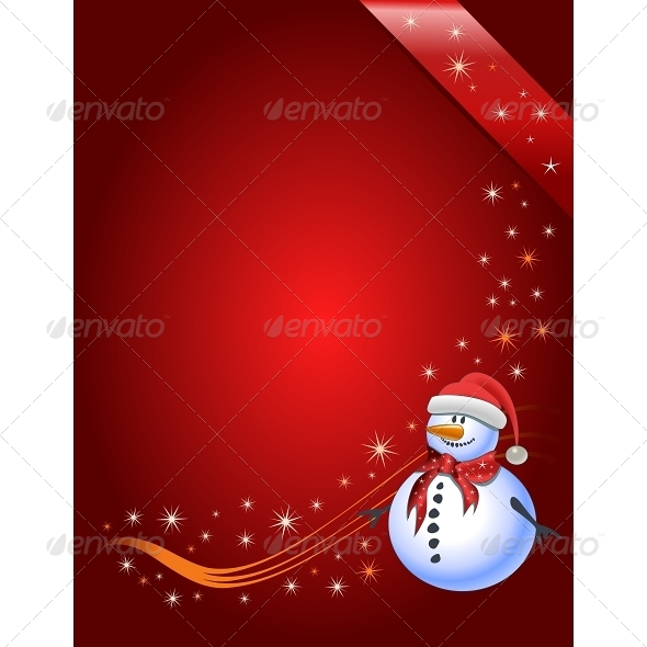 Snowman Illustration - Christmas Seasons/Holidays