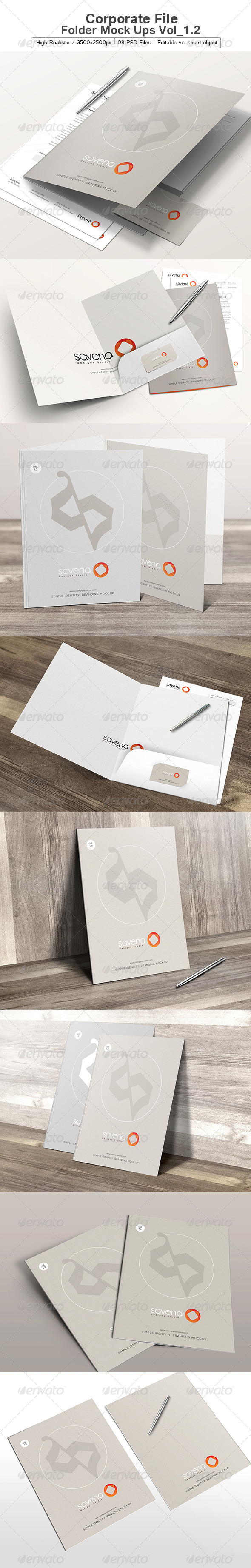 Corporate File Folder Mock Ups Vol_1.2 - Product Mock-Ups Graphics