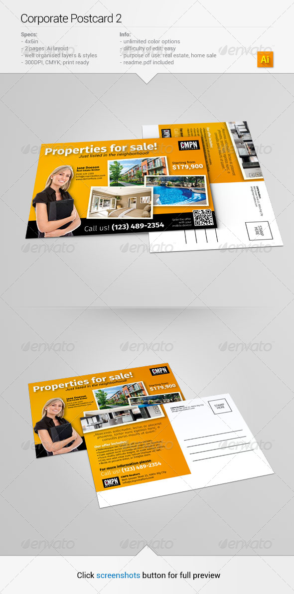 Corporate Postcard 2 - Corporate Flyers