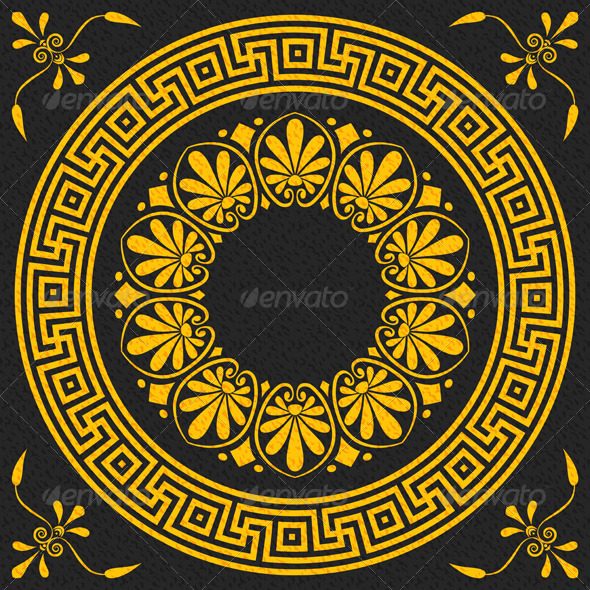 Traditional Vintage Gold Greek Ornament  - Patterns Decorative